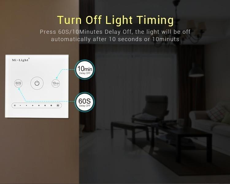 Mi-Light 1-channel 0~10V panel dimmer L1 timer turn the lights off at a specific time