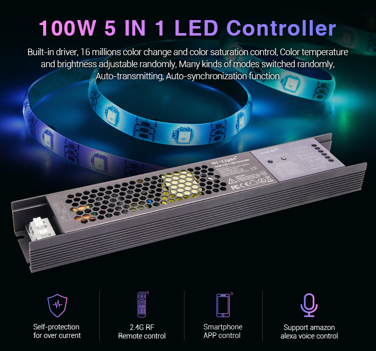 Mi-Light 100W 5 in 1 LED controller PX1 universal control built-in driver