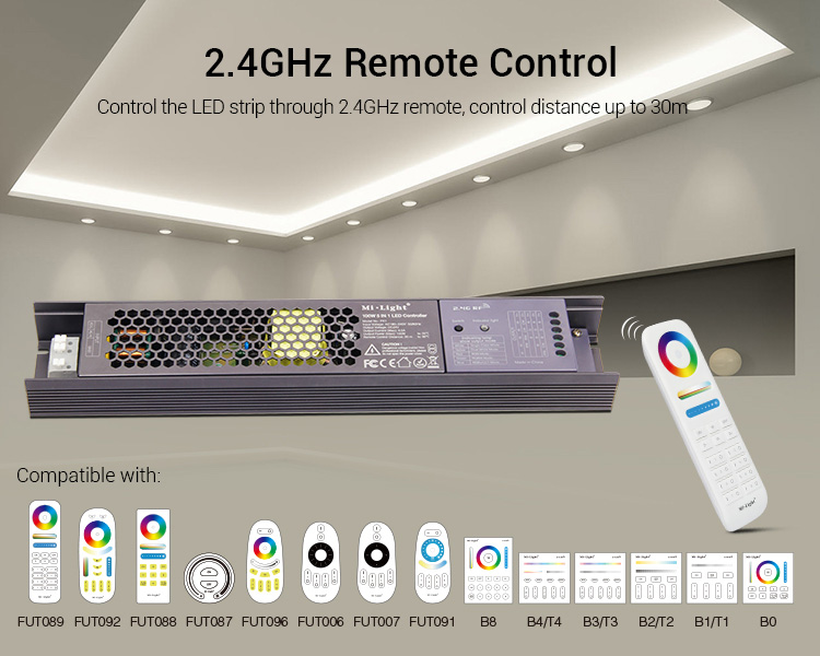 Mi-Light 100W 5 in 1 LED strip controller PX1 compatible remote controllers