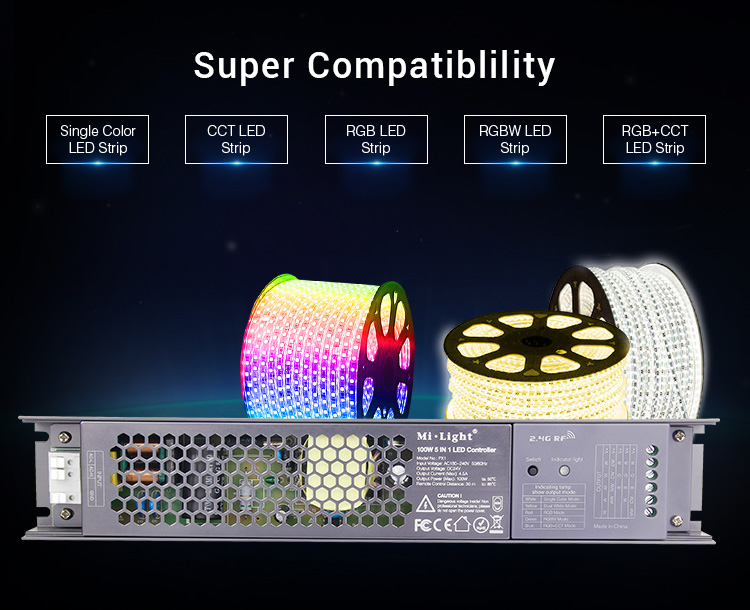 Mi-Light 100W 5 in 1 LED strip controller PX1 multitasking mode