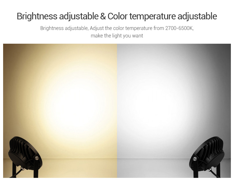 brightness saturation colour temperature adjustment outdoor lamp