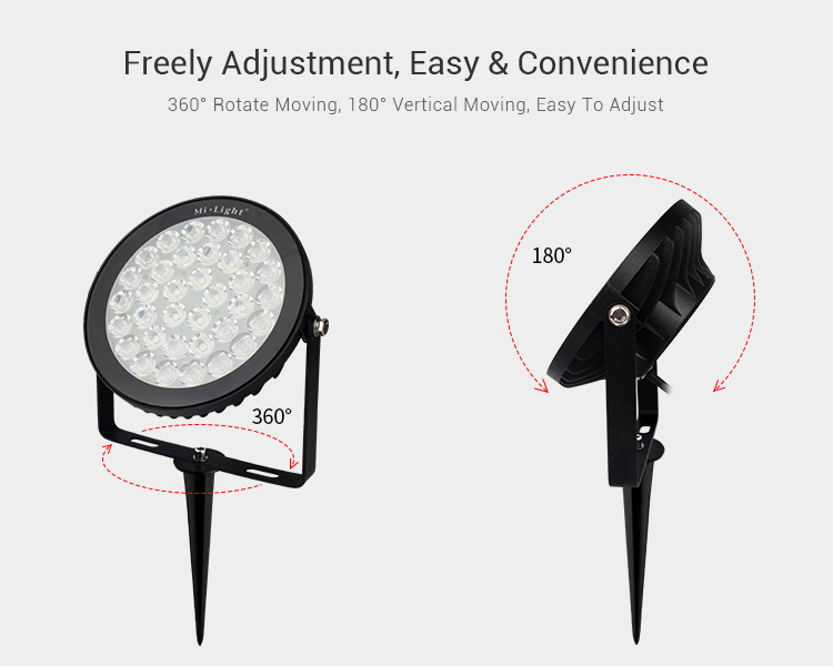 freely adjustment easy & convinient lamp 360 degree rotate moving 180 degree vertical adjustment outdoor garden lamp