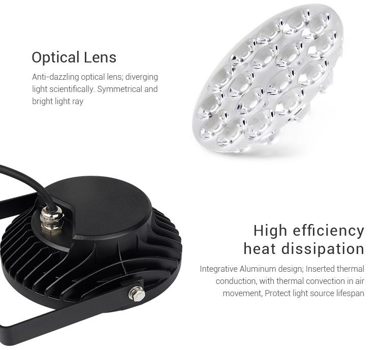 optic lens aluminium body heat sink smart LED remote controlled garden lamp