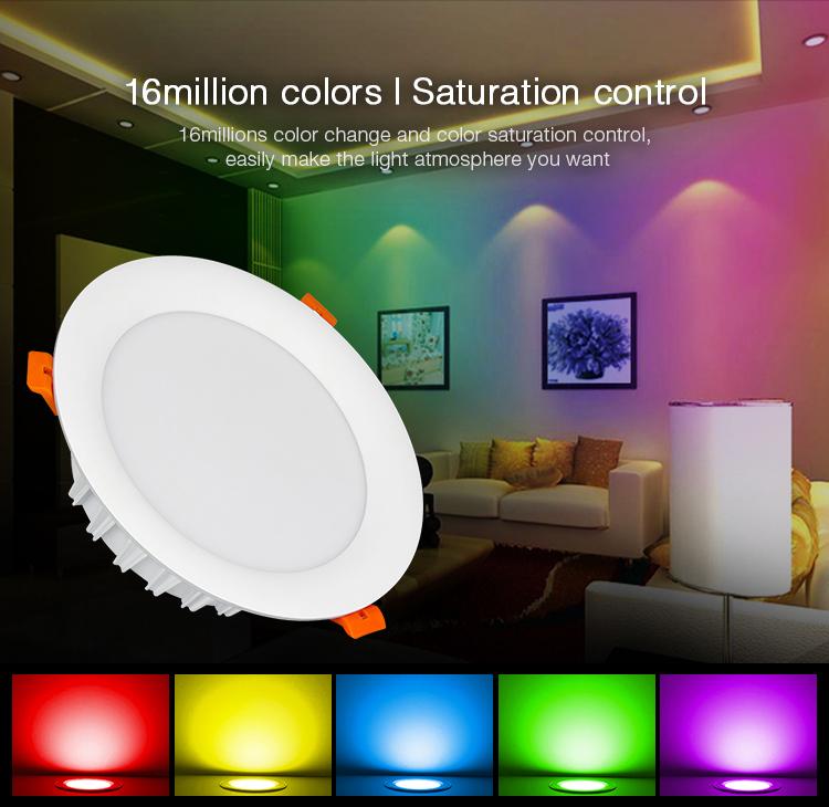16 million colours Mi-Light 18W RGB+CCT LED downlight FUT065