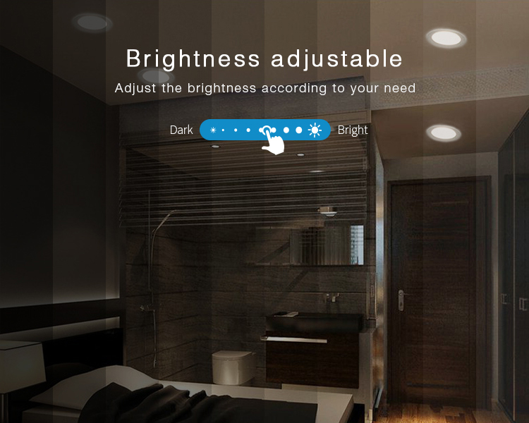 brightness adjustable Mi-Light 18W RGB+CCT LED downlight FUT065