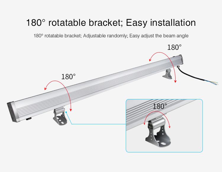 Mi-Light 24W RGB+CCT LED wall washer light RL1-24 easy installation