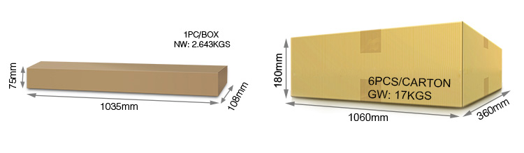 Mi-Light 24W RGB+CCT LED wall washer light RL1-24 wholesale packaging retail box product size