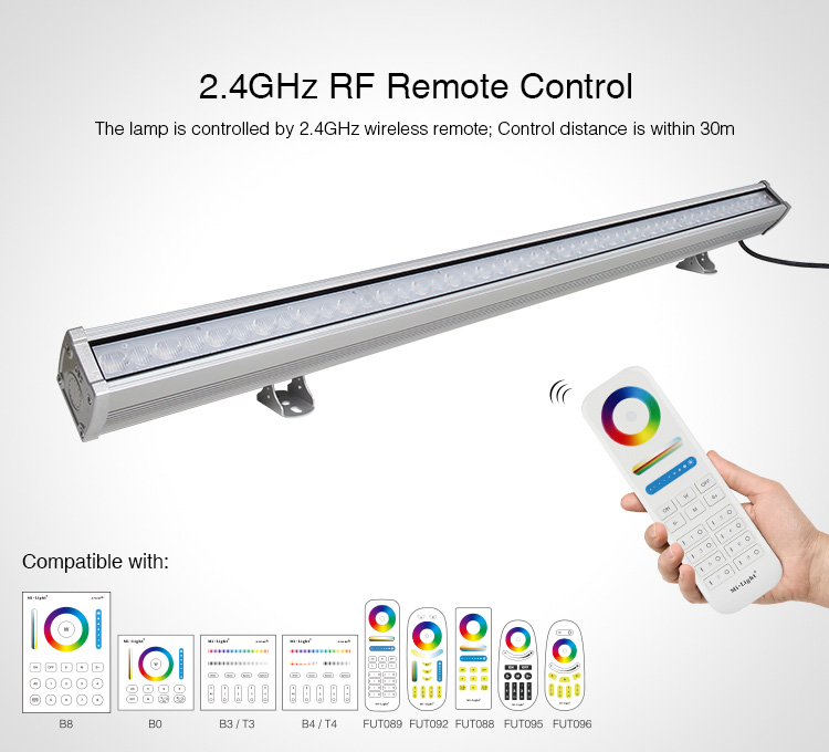 Mi-Light 24W RGB+CCT LED wall washer light RL1-24 full control compatible remote controllers