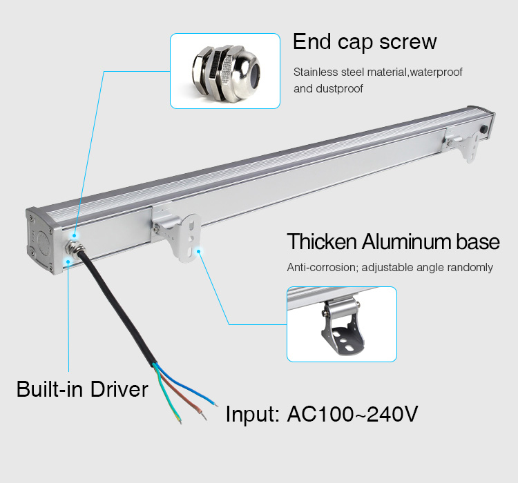 Mi-Light 24W RGB+CCT LED wall washer light RL1-24 stainless steel material