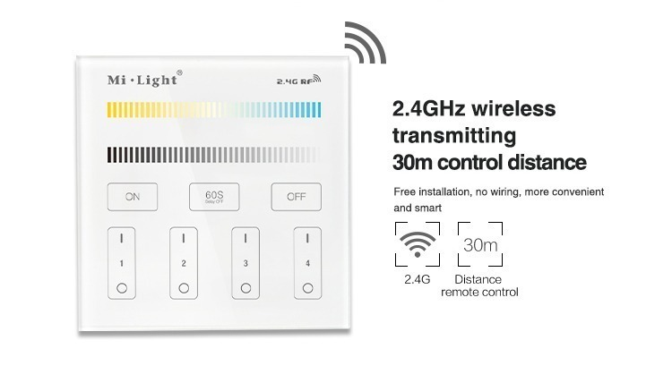 2.4GHz wireless transmitting 30 meters control distance switch lights in different room or in the garden indoor and outdoor lighting control
