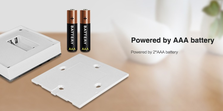 powered by 2 AAA batteries smart wall remote control panel