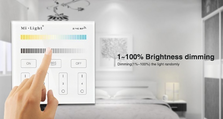 1-100% brightness dimming B2 wall panel by Mi-Light and milight is everything you need to light up your home