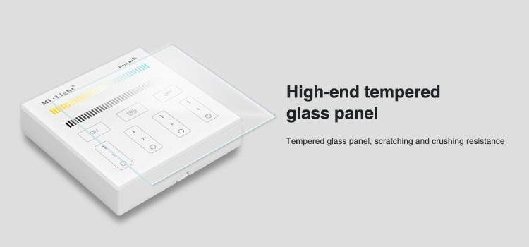high end tempered glass panel cover the smart wall panel as a protection against scratches and crushing