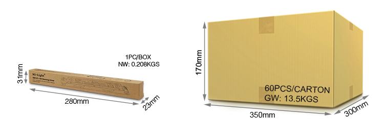 Mi-Light 40W 01~10V dimming driver PL1 packaging wholesale and retail box carton logistics
