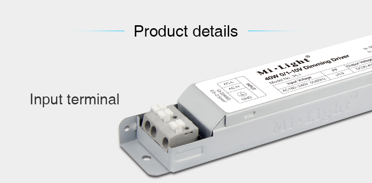 Mi-Light 40W 01~10V dimming driver PL1 power inputs DC voltage product details