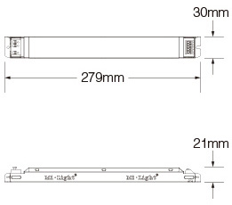 Mi-Light 40W 01~10V dimming driver PL1 size product technical picture