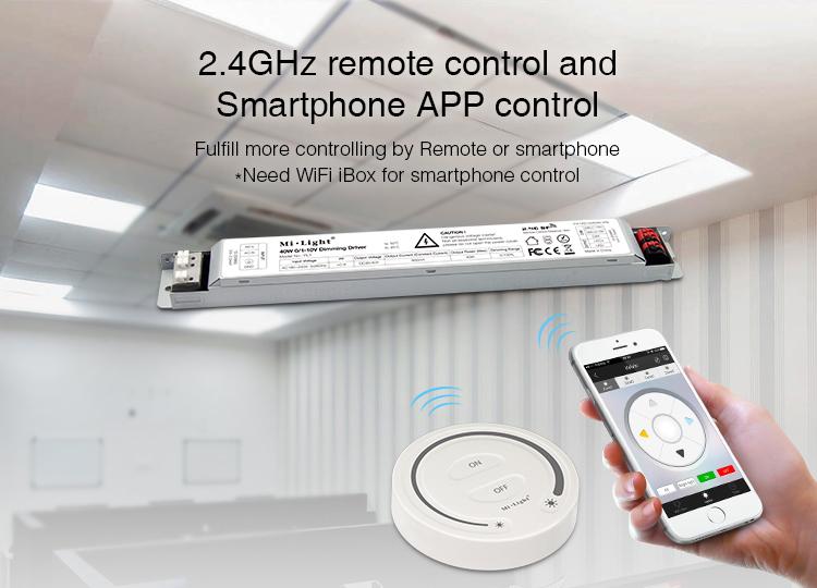 Mi-Light 40W 01~10V dimming driver PL1 smartphone app control remote control
