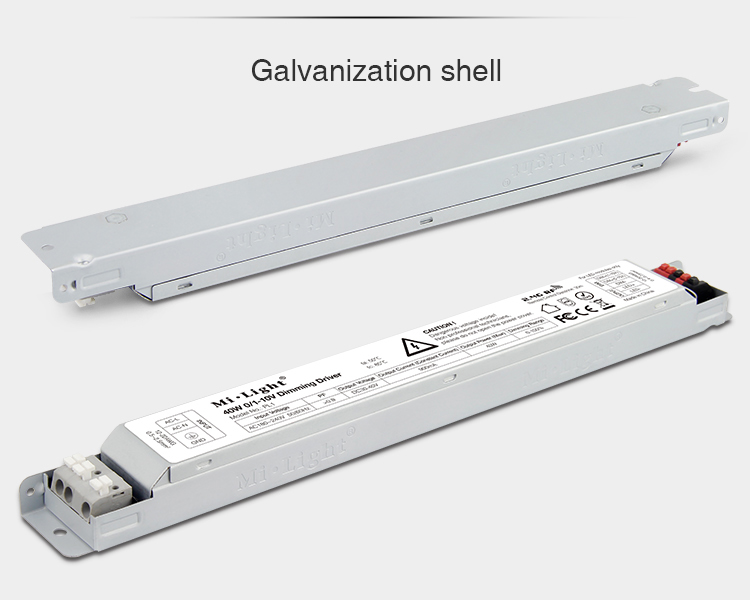 Mi-Light 40W 01~10V dimming driver PL1 galvanised shell controller body housing
