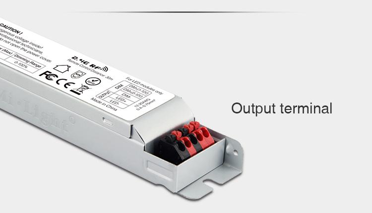 Mi-Light 40W 01~10V dimming driver PL1 output terminals quick connection LED strip