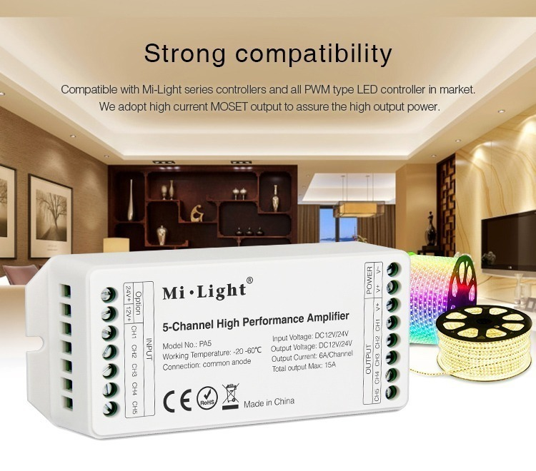 strong compatibility smart lighting milight amplifier