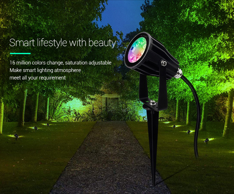 Mi-Light 6W RGB+CCT smart LED garden lamp FUTC04 smart lifestyle LED garden spotlight