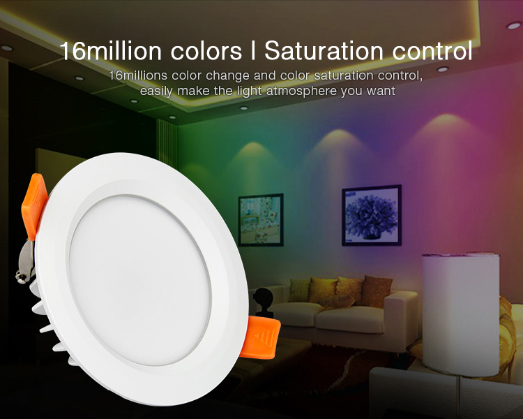 Mi-Light 6W RGB+CCT waterproof LED downlight FUT063 16 million colours