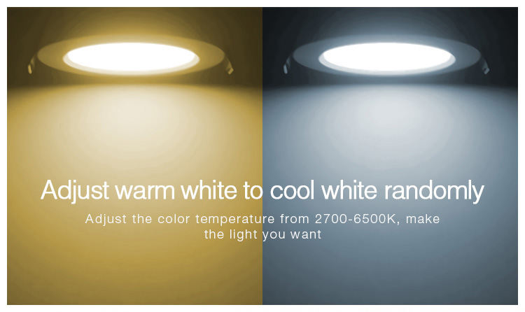 Mi-Light 6W RGB+CCT waterproof LED downlight FUT063 adjust warm to cold white colour temperature adjustable