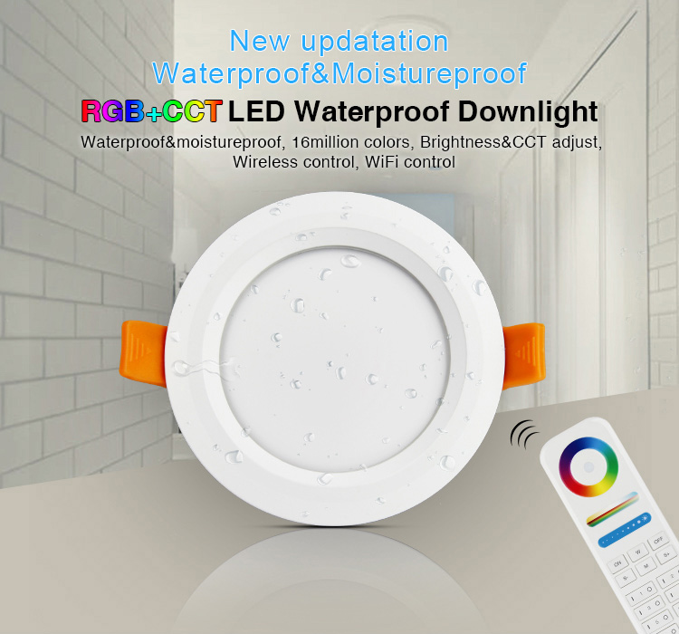 Mi-Light 6W RGB+CCT waterproof LED downlight FUT063  moisture proof WiFi control