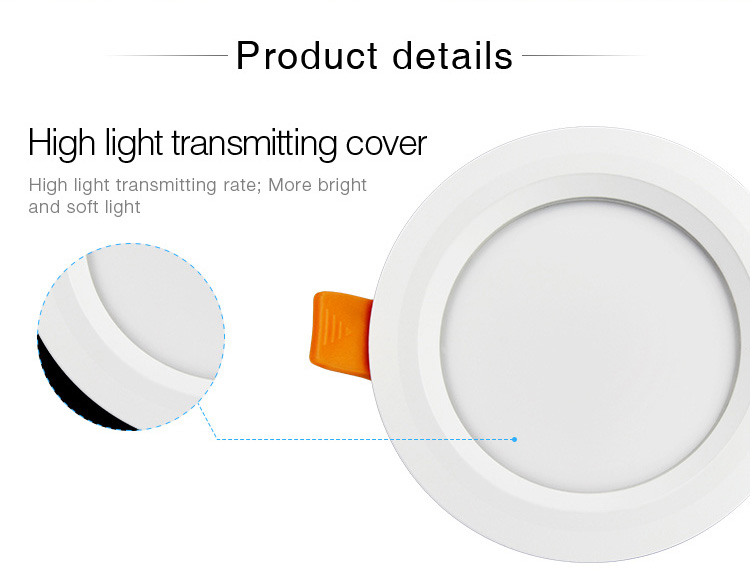Mi-Light 6W RGB+CCT waterproof LED downlight FUT063 product details high quality cover housing