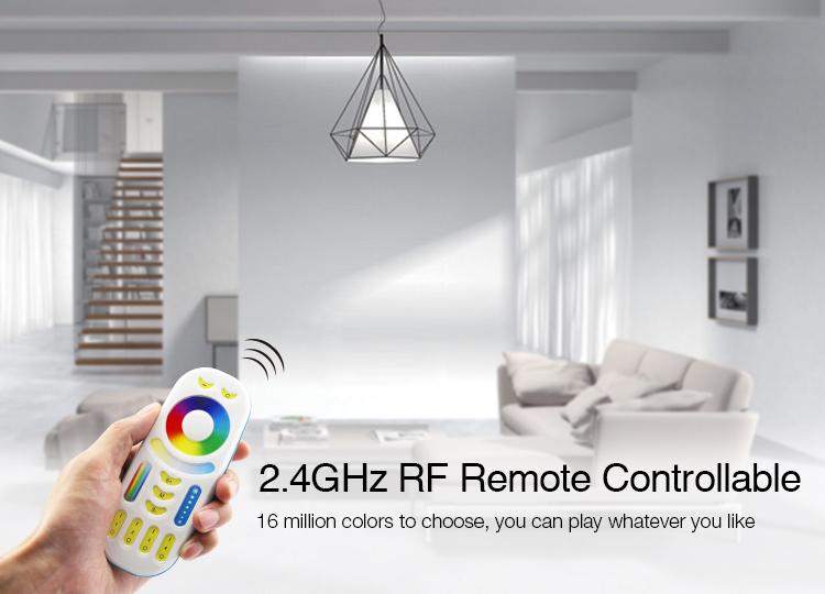 endless possibilities Mi-Light 9W DMX512 RGB+CCT LED light bulb FUTD04