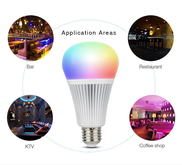 Mi-Light 9W DMX512 RGB+CCT LED light bulb FUTD04 application