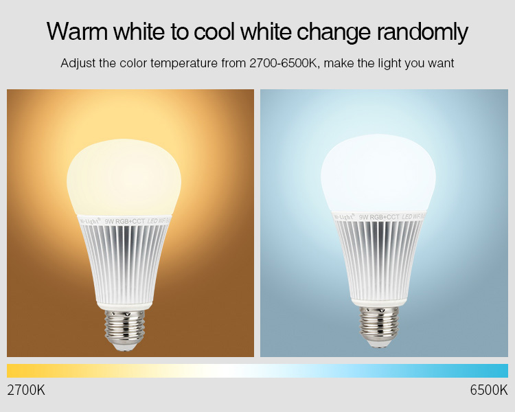 CCT adjustable warm white cool cold white 2700K 6500K