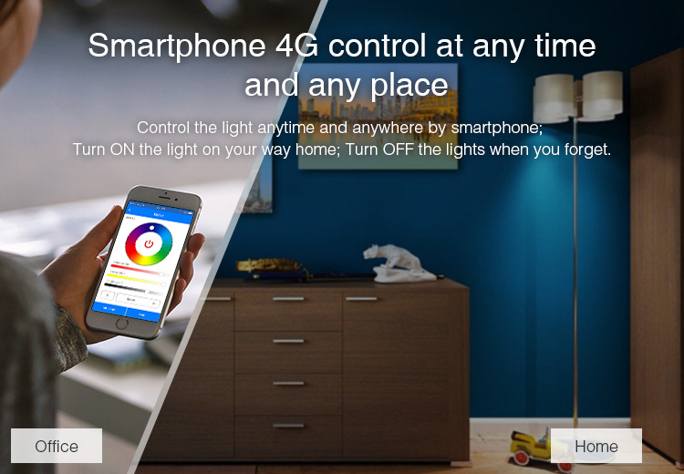 smartphone 4G control at any time and any place Mi-Light 9W RGB+CCT WiFi LED bulb YB1