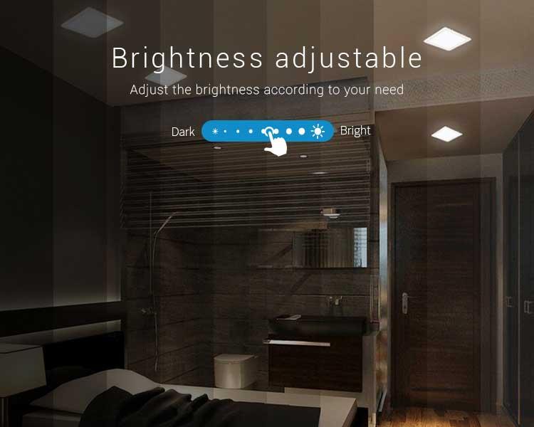 Mi-Light 9W RGB+CCT square LED downlight FUT064 brightness adjustable