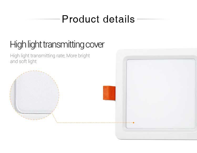 Mi-Light 9W RGB+CCT square LED downlight FUT064 product details cover