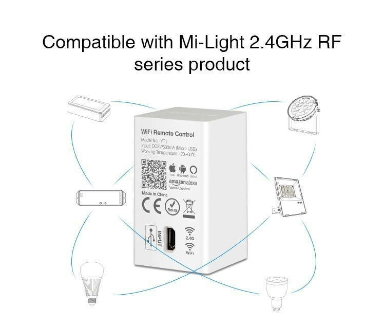 The unique functions of Mi-Light WiFi remote control YT1 will amaze you