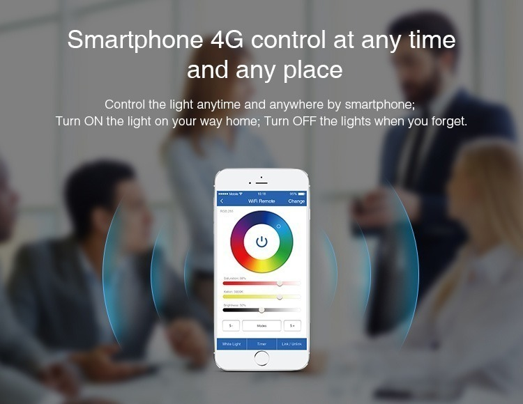 Mi-Light YT1 you are able to link every gadget in your home to your smartphone