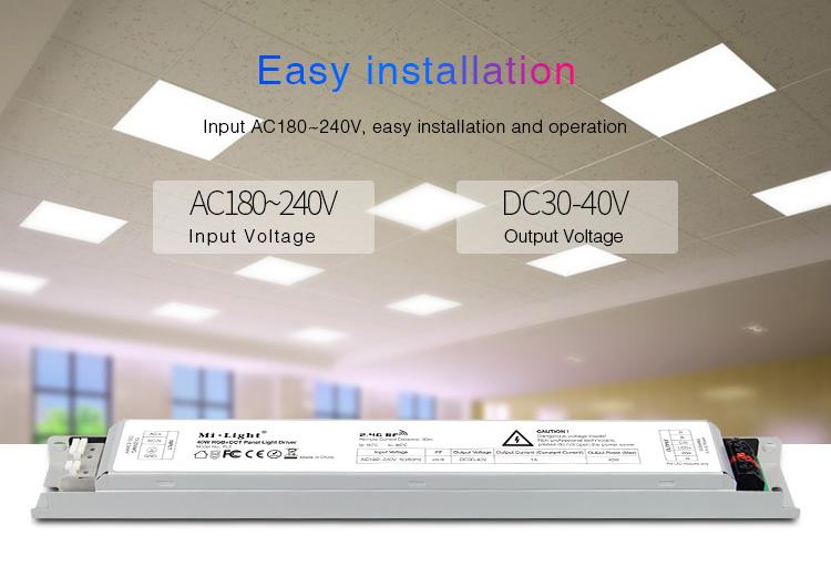 Mi-Light 40W RGB+CCT panel light driver PL5 - easy installation