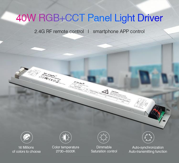 Mi-Light 40W RGB+CCT panel light driver PL5 - features