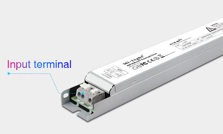 Mi-Light 40W RGB+CCT panel light driver PL5 - power terminals