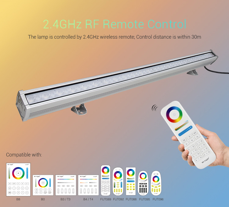 Mi-Light 48W RGB+CCT LED wall washer light RL2-48 compatible MiLight remote controllers 2.4GHz RF wireless