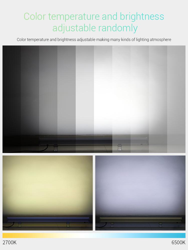 Mi-Light 48W RGB+CCT LED wall washer light RL2-48 colour temperature and brightness adjustable 2700K 6500K