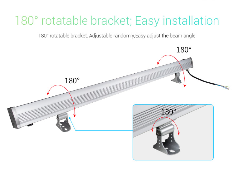 Mi-Light 48W RGB+CCT LED wall washer light RL2-48 adjustable rotatable brackets 180 degrees adjust beam angle