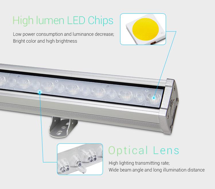 Mi-Light 48W RGB+CCT LED wall washer light RL2-48 high quality LED chips low power consumption