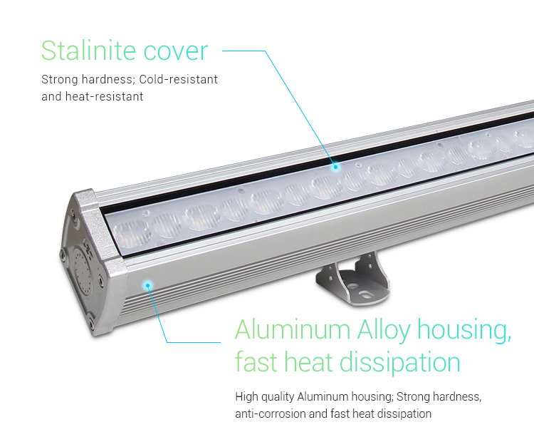 Mi-Light 48W RGB+CCT LED wall washer light RL2-48 stalinite cover heat resistant aluminium alloy housing