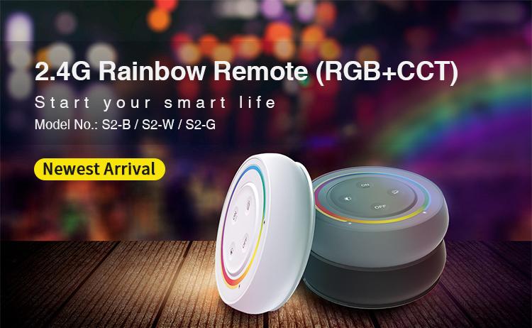 Mi-Light 2.4GHz rainbow remote (RGB+CCT) S2