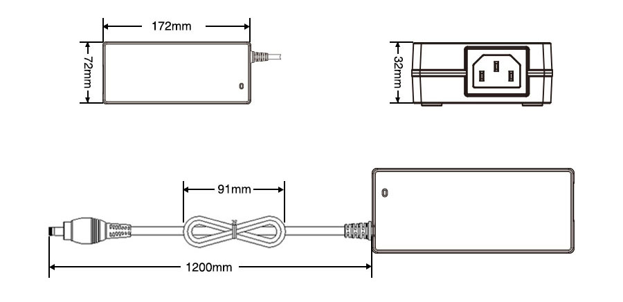 P120-24-A LED power supply dimensions