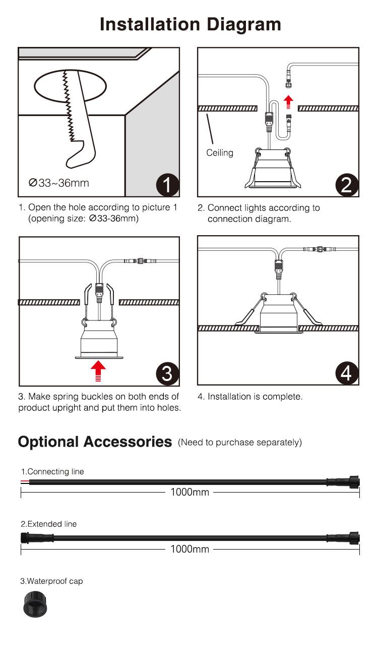 installation instruction of garden spot lights