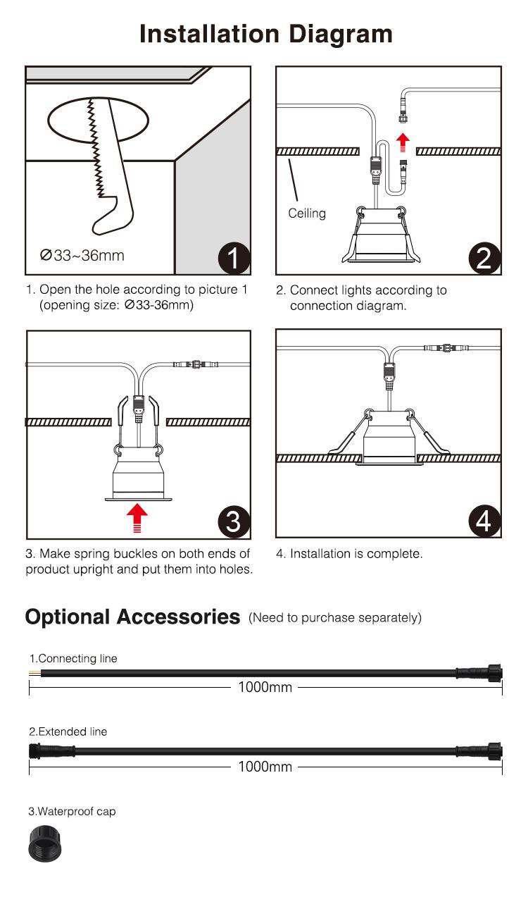 MiBoxer LED spotlight SL2-12 easy installation