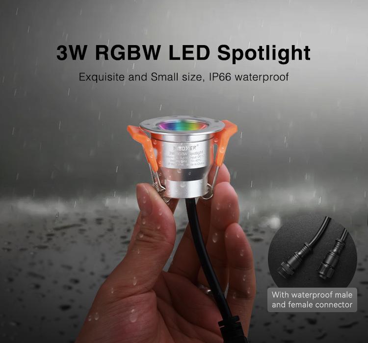 garden waterproof RGBW spotlight for stairs